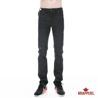 BRAPPERS 男款 新美腳Royal系列-中腰彈性直筒褲-黑
