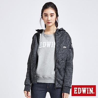 EDWIN 冒險旅行立體剪裁機能外套-女-黑灰