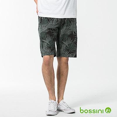 bossini男裝-休閒棉麻短褲02森綠