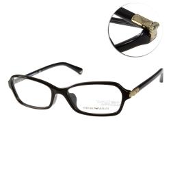 EMPORIO ARMANI眼鏡 經典logo/黑#EA3009F 5017