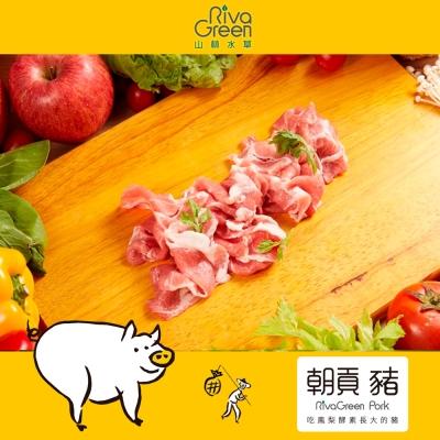【山林水草】朝貢豬 梅花肉片 5包(300g/包)