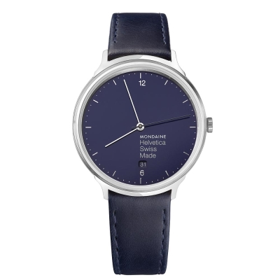 MONDAINE 瑞士國鐵設計系列限量腕錶 - 海軍藍 / 38mm