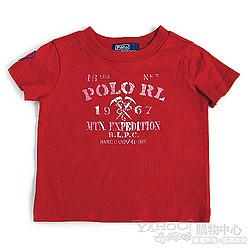 RALPH LAUREN 正紅POLO立體徽章短袖T恤(9個月)