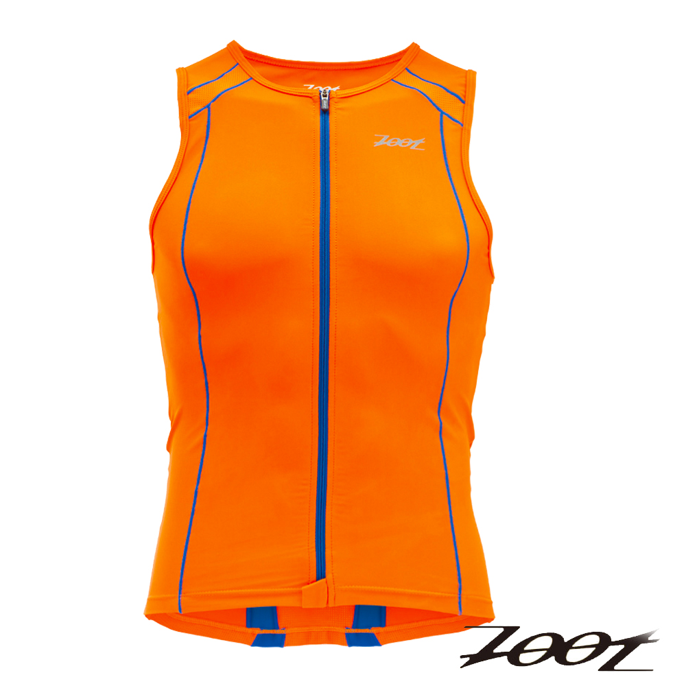 ZOOT 專業級全拉式鐵人上衣(男)Z1406021(酷橘寶藍)