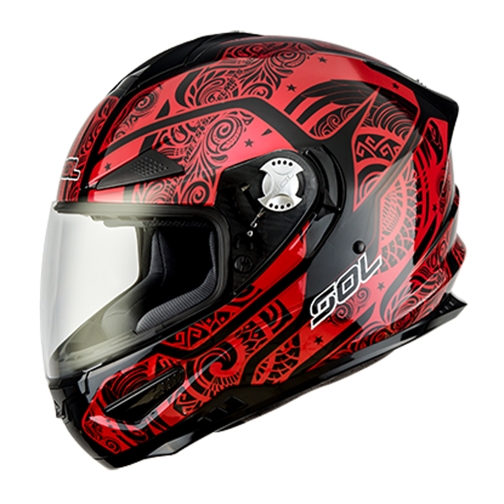 SOL SF-5 全罩式安全帽BABYLON巴比倫系列(消黑紅)
