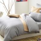 Cozy inn 極致純色-淺灰-300織精梳棉被套(加大)