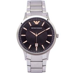 ARMANI 沉靜摩登男性簡約手錶 (AR2514) -灰黑面x銀色/42mm