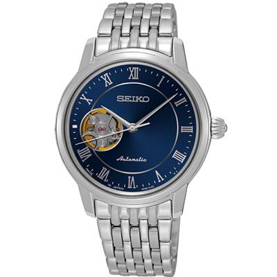 SEIKO Presage 開芯女孩經典機械錶(SSA857J1)-藍/34mm
