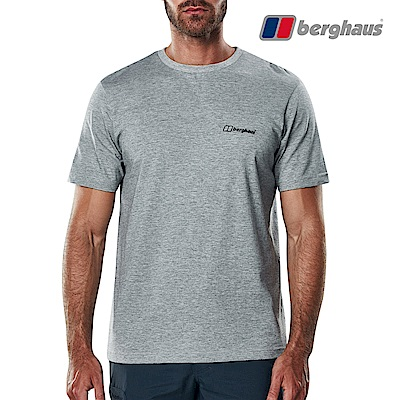 【Berghaus貝豪斯】男款山峰印花圓領T恤S04M18-灰