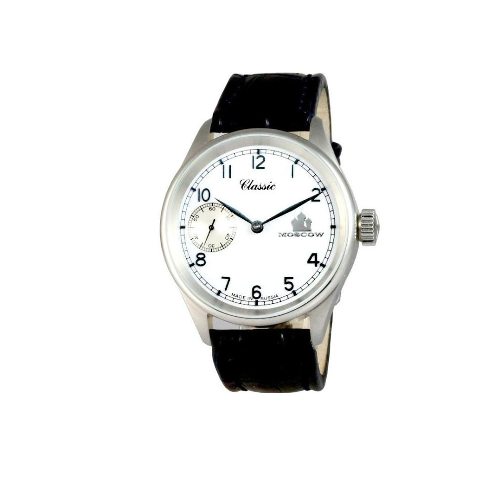 MOSCOW CLASSIC 俄羅斯風華鐵道腕錶-白/42mm