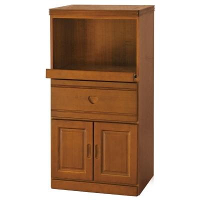 品家居 幸萊克2x4尺樟木色拉盤收納餐櫃
