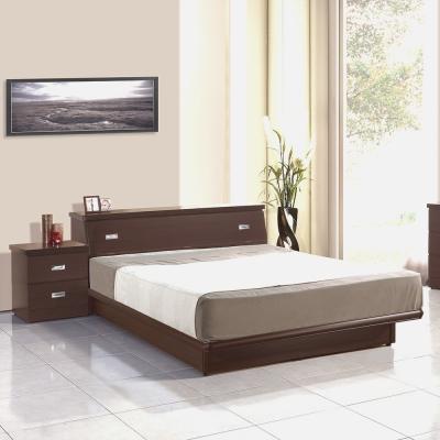 群居空間 福德5尺掀床組 床頭箱+掀床 胡桃色