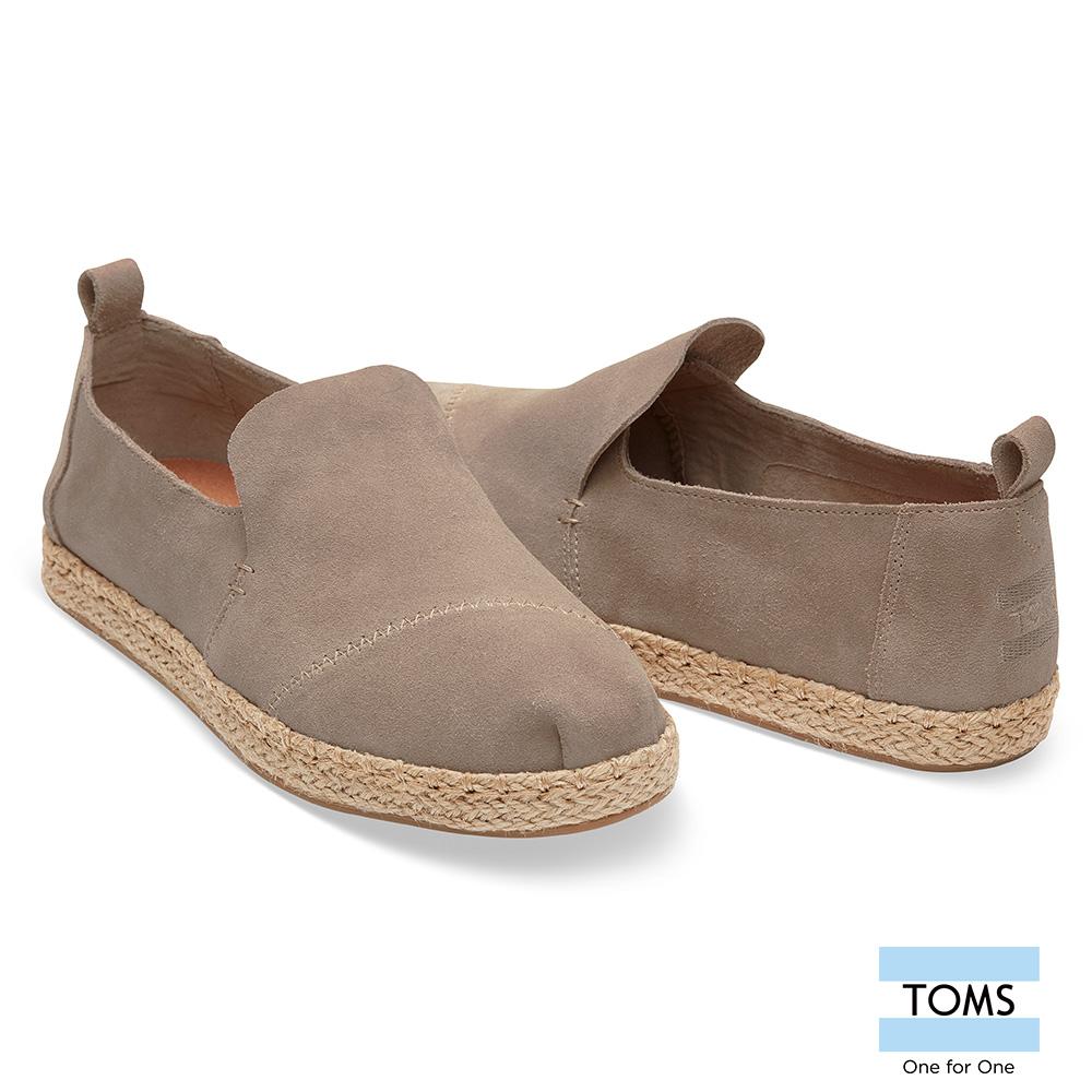 TOMS 麂皮草編休間鞋-女款