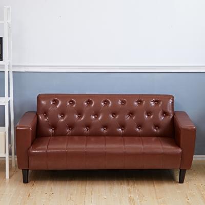 Bed Maker-拉釦古早味‧復古經典 3P三人 皮革沙發/復刻沙發