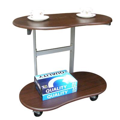 【耐重型】雙層-活動式餐桌【深胡桃木色】