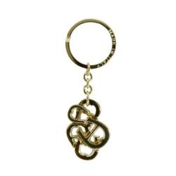 AIGNER 花式LOGO鑰匙圈 金