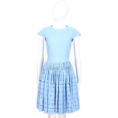 LOVE MOSCHINO 水藍色簍空設計包袖洋裝