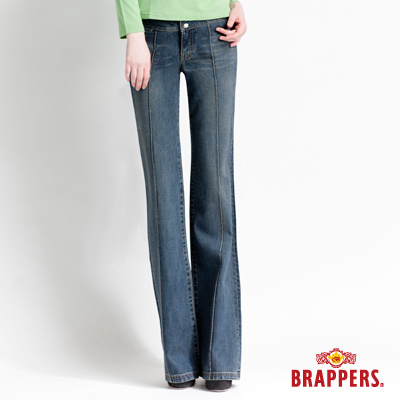 BRAPPERS 女款 女休閒系列-女用大喇叭褲-藍