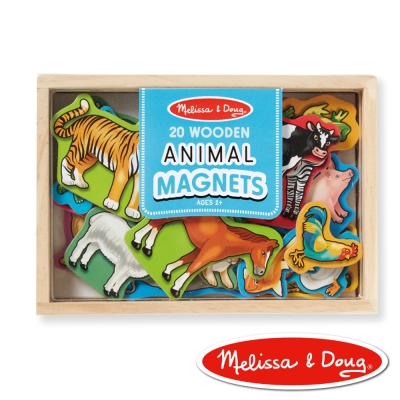 美國瑪莉莎 Melissa & Doug 磁力-動物木質磁鐵貼