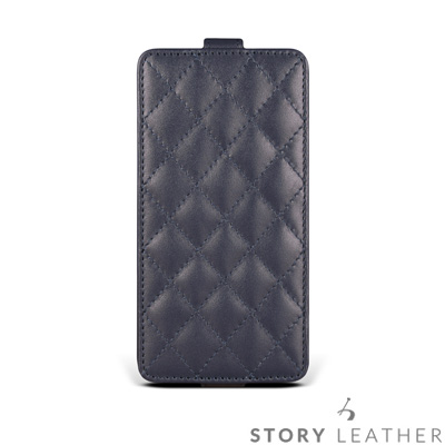 STORYLEATHER iPhone X Style-iPX4 硬殼式下蓋菱格...