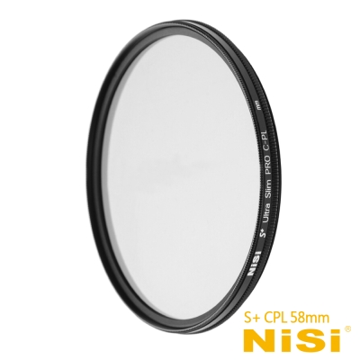 NiSi 耐司 S+ CPL 58mm Ultra Slim PRO 超薄框偏光...