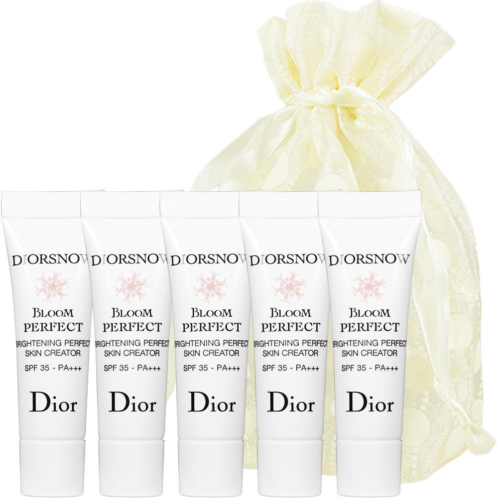 Dior迪奧 雪晶靈光感柔膚萃SPF35/PA+++3ml*5旅行袋組