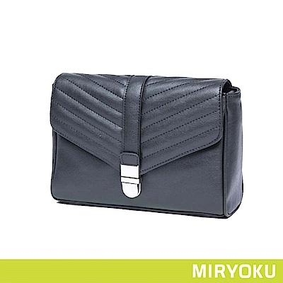 MIRYOKU / 經典斜紋掀蓋小方包(共3色)