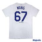 Majestic-堪薩斯皇家隊王建民背號67號T恤-白