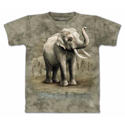摩達客 美國進口The Mountain亞洲象 純棉短袖T恤