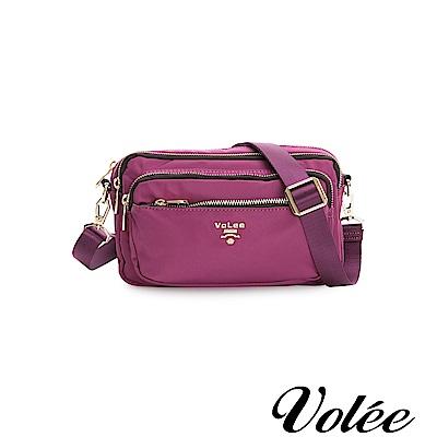 Volee飛行包-伴旅系列多功能多拉隨行鍊肩背包-葡萄紫