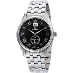 CYMA 羅馬都會知性小秒針時尚腕錶-黑/40mm