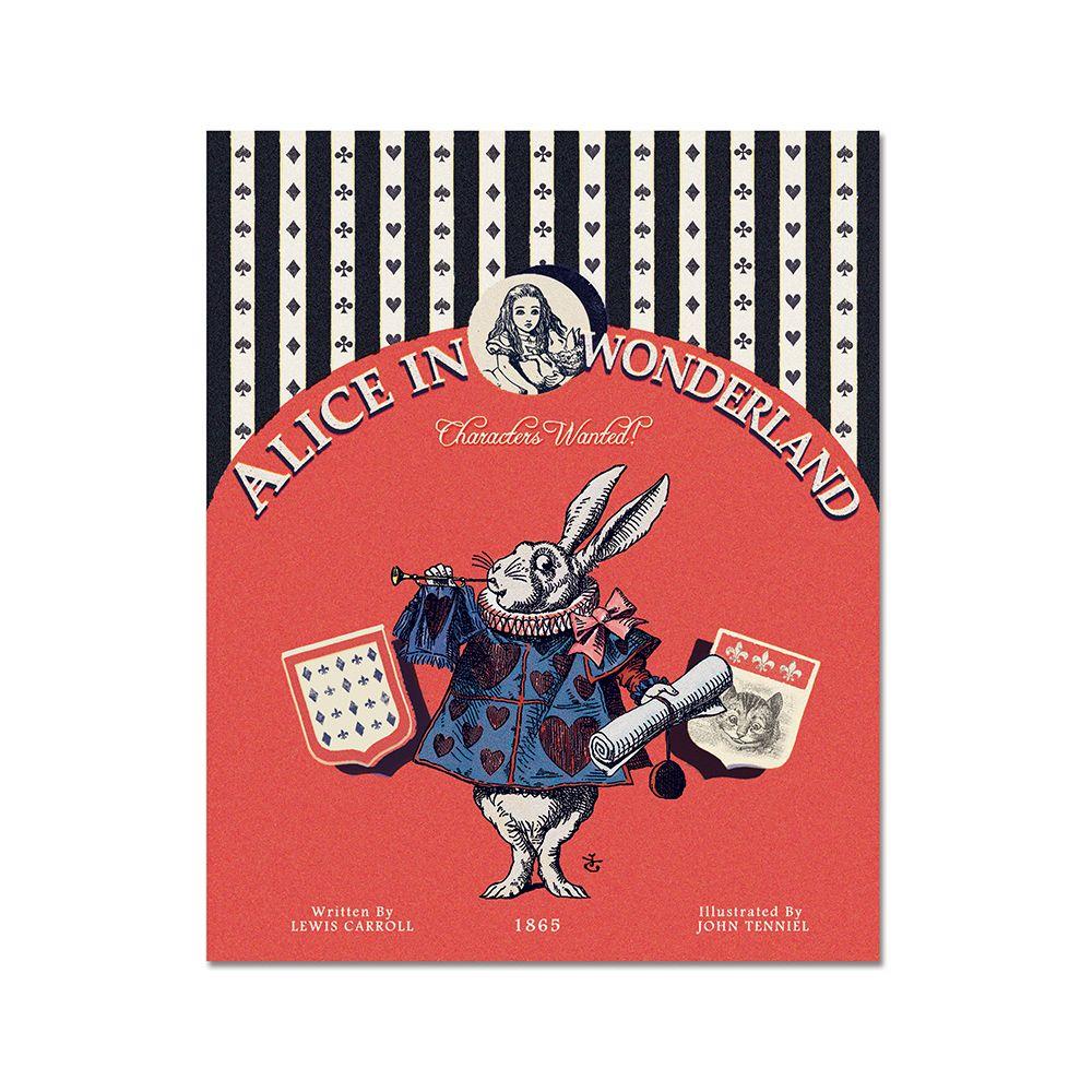 7321Design愛麗絲VG復古童話萬用卡-紅心兔