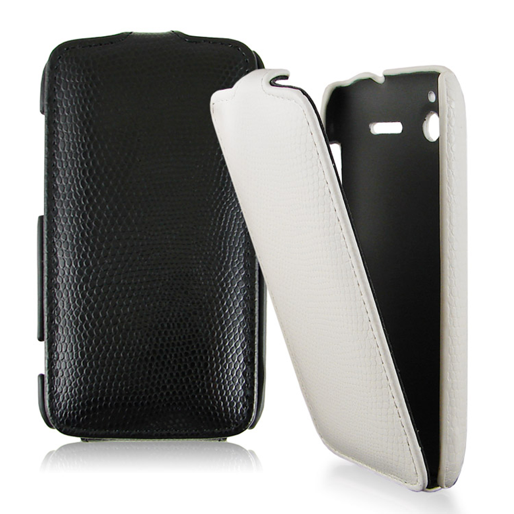 HTC Sensation / XE  專用掀蓋式蛇紋皮革保護皮套