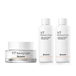 V7維他命鑽白素顏組(V7鑽白霜50ml+化妝水150ml2入)