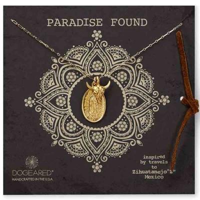 Dogeared paradise found 公牛頭瑪利亞錢幣 雙墜 金色項鍊 附原廠盒