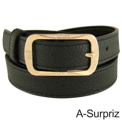 A-Surpriz 知性品味方扣腰帶(氣質黑)