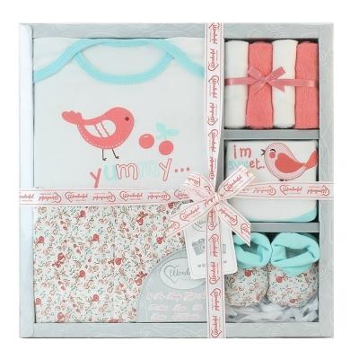 美國Elegant kids彌月禮盒-衣褲8件式禮盒