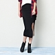 素面針織窄裙(兩色)-CACO 購物中心獨賣