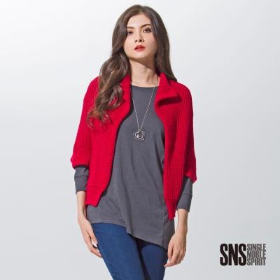 SNS-斗篷式無釦開襟針織外套-3色