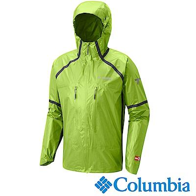 Columbia 哥倫比亞 男-鈦OD連帽防水外套-蘋果綠-URE00190AP