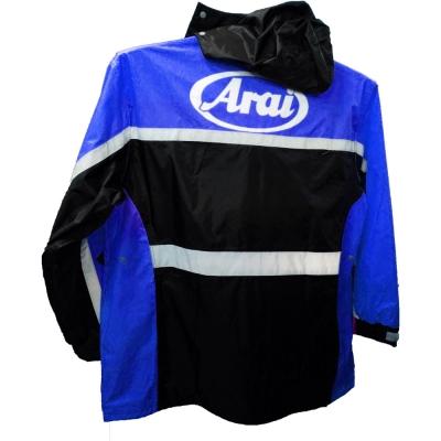 佐海ARAI K8 專利雨鞋套兩件式賽車型雨衣 (藍黑)