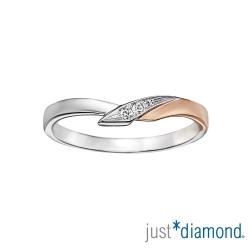 Just Diamond深情華爾滋 男女對戒-女戒