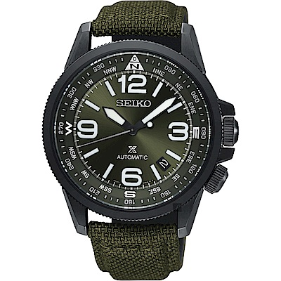 SEIKO精工 Prospex 空軍爭霸機械錶(SRPC33J1)-綠/42mm