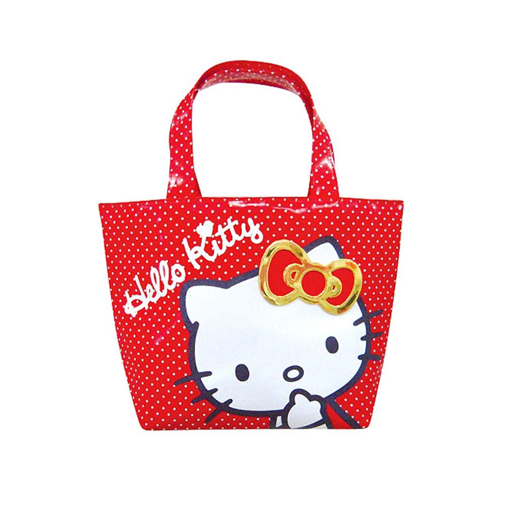 《Sanrio》HELLO KITTY緞帶徽章系列迷你提袋
