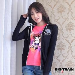 BIG TRAIN 女版連帽外套-女-黑色