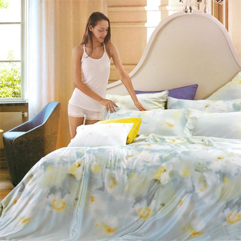Saint Rose 薄紗辰霧 雙人100%純天絲兩用被套床罩八件組