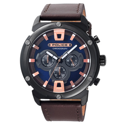 POLICE  神秘頻率時尚腕錶-15047JSB-03-50mm