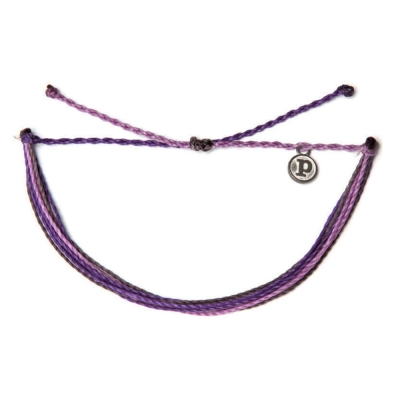 Pura Vida 美國手工Grapevine 紫色系可調式手鍊衝浪海灘防水手環