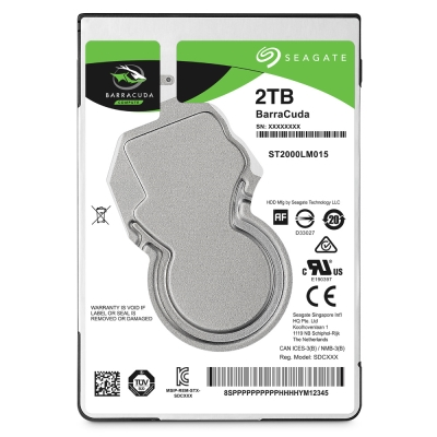 Seagate BarraCuda 新梭魚 2TB 2.5吋 硬碟