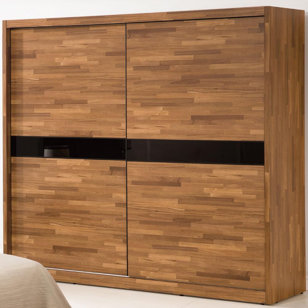 品家居 辛普7尺木紋推門衣櫃-209x59.5x196.9cm-免組